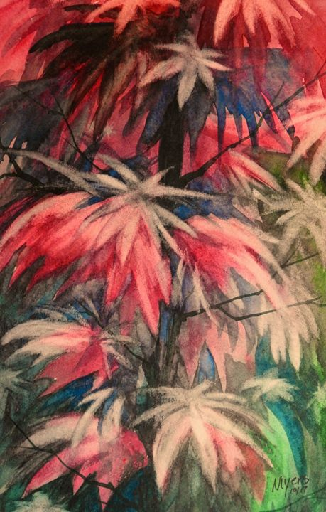 Fall Plants, Watercolor - David K. Myers Watercolor/ Photo Gallery