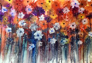 Spring Flowers, Watercolor