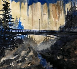 Bridge View Watercolor