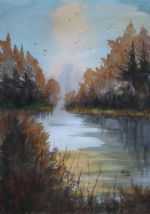 Autumn Lake - David K. Myers Watercolor/ Photo Gallery