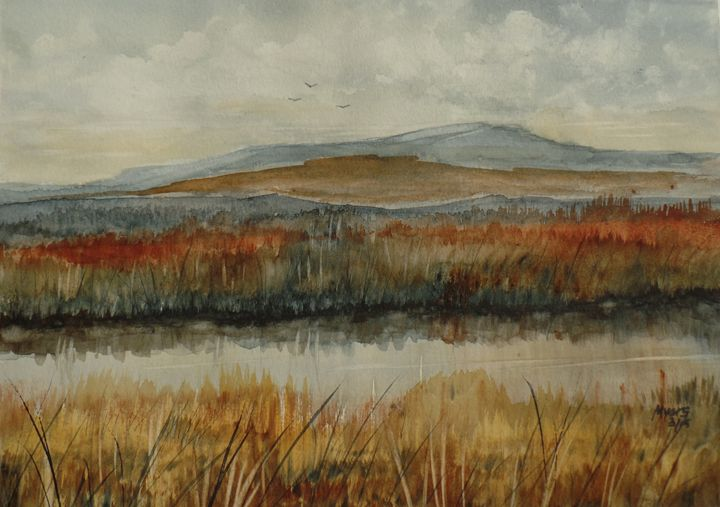 River Reeds - David K. Myers Watercolor/ Photo Gallery