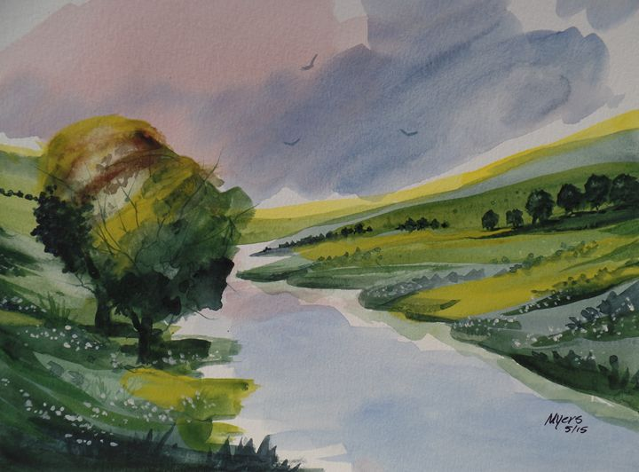 Irish Hills - David K. Myers Watercolor/ Photo Gallery