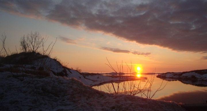 Ludington sunset 2 - David K. Myers Watercolor/ Photo Gallery