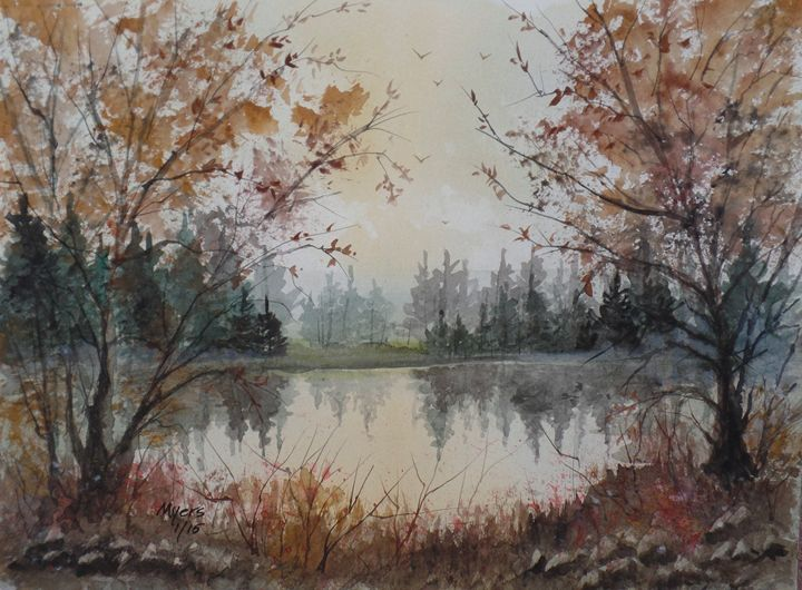 Lake Reflections - David K. Myers Watercolor/ Photo Gallery