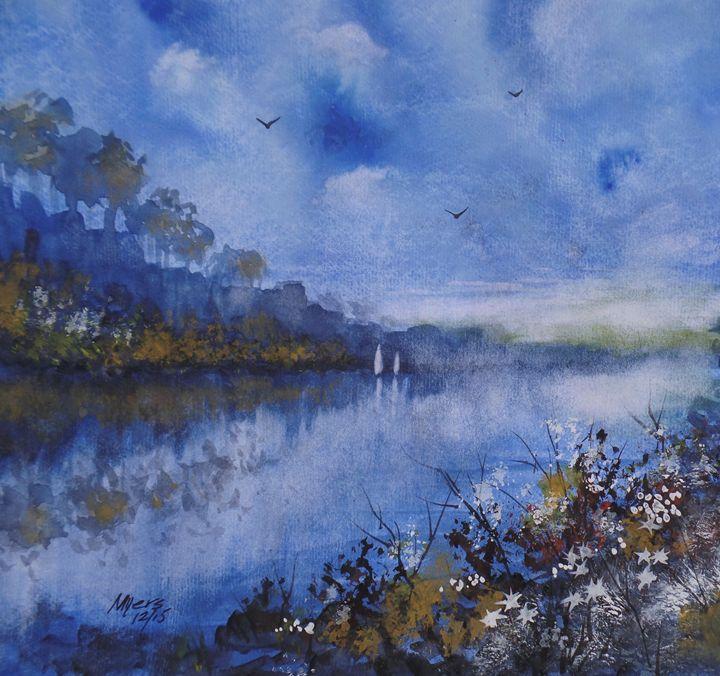Blue Sail - David K. Myers Watercolor/ Photo Gallery