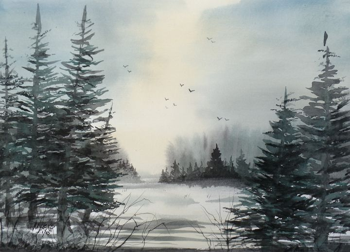 Fresh Snow - David K. Myers Watercolor/ Photo Gallery