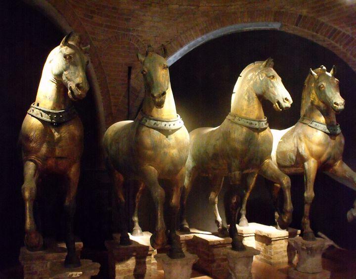 Horses of Saint Mark, Venice, Italy - David K. Myers Watercolor/ Photo Gallery