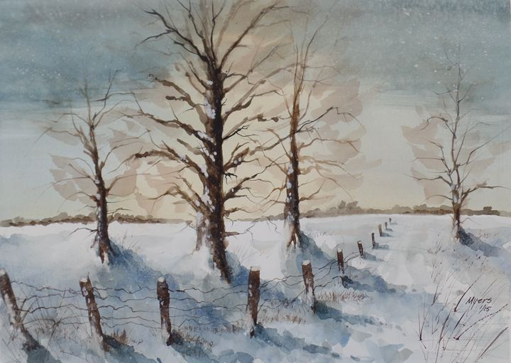 Morning after Blizzard - David K. Myers Watercolor/ Photo Gallery
