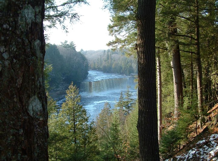 Tahquamenon Falls, Michigan, USA - David K. Myers Watercolor/ Photo Gallery