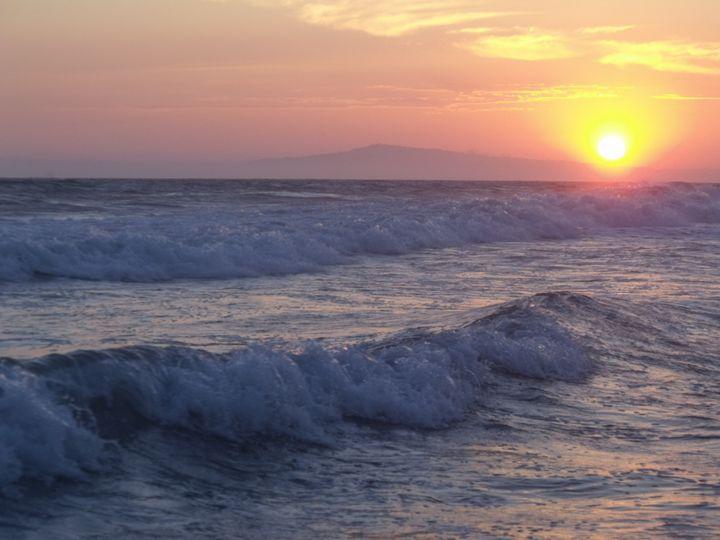 Cali Sunset - David K. Myers Watercolor/ Photo Gallery