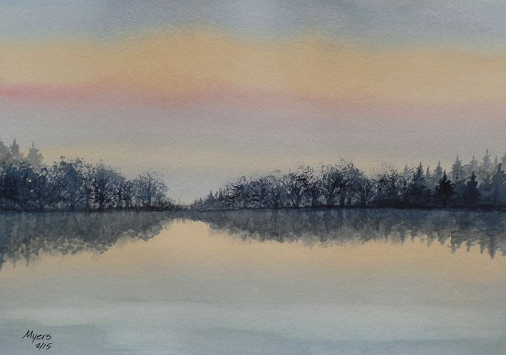 Sunrise Reflections - David K. Myers Watercolor/ Photo Gallery