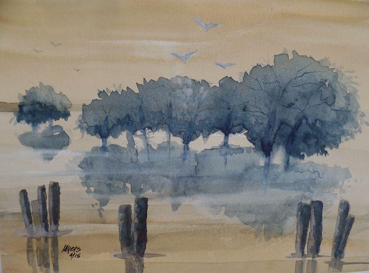 Mangrove Sunset - David K. Myers Watercolor/ Photo Gallery