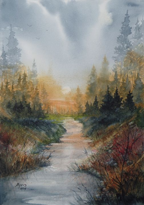 Trout Stream - David K. Myers Watercolor/ Photo Gallery