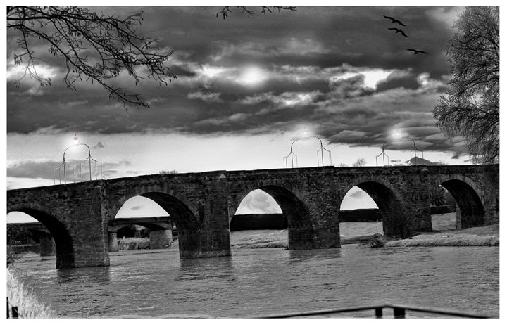 Pont Vieux en Noir et Blanc - MaXx Art
