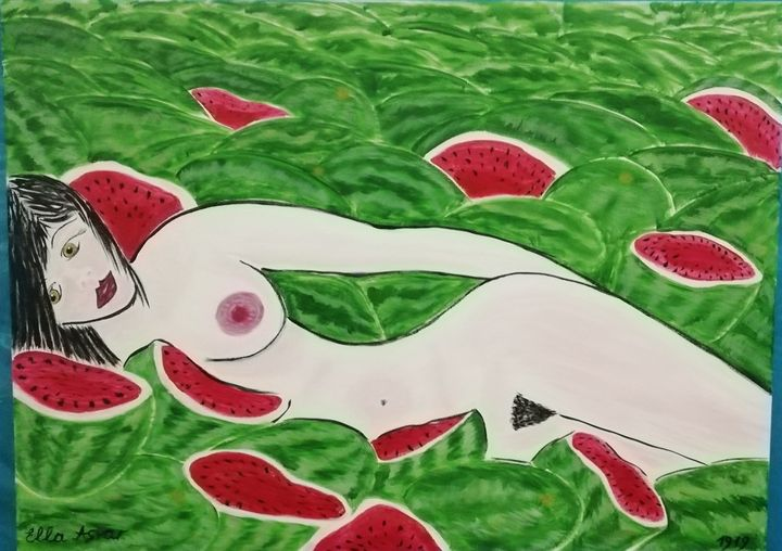 Woman in watermelons - Ella Asvar