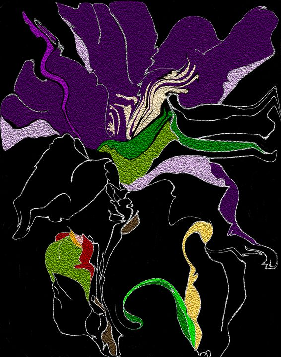 Gladiolus - Kalyna Forrest's Abstract