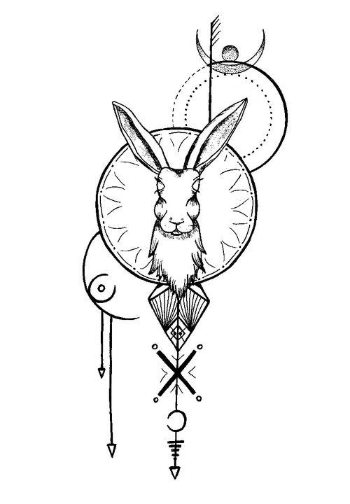 hare - Dominofae Art