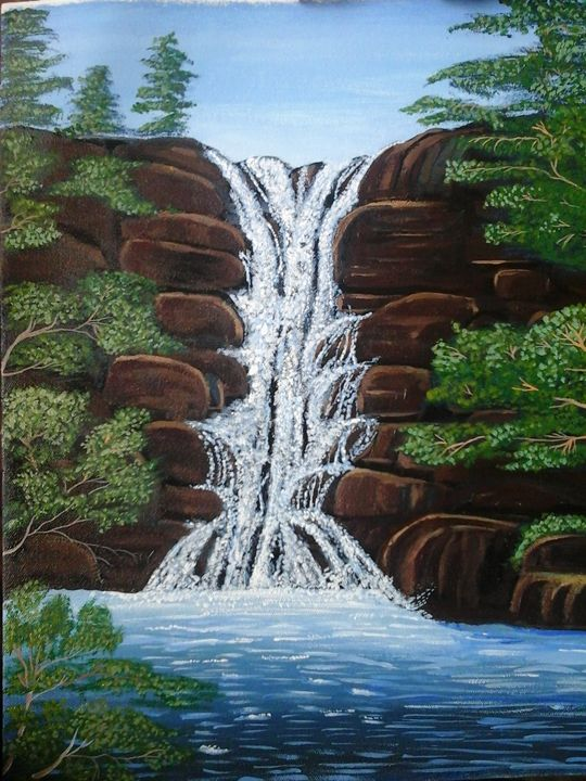Waterfall - Rajni Art Gallery