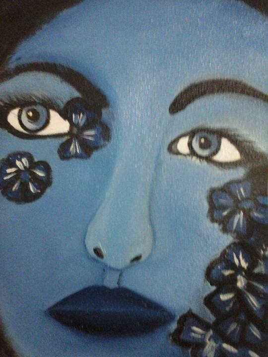 Lady In Blue - Rajni Art Gallery