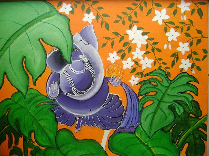 Ganesha painting - Rajni Art Gallery
