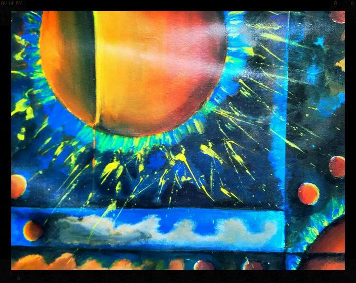 Celestial collision - Rajni Art Gallery