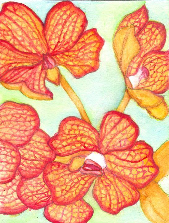 Wild Orchids - RowanMakesArt