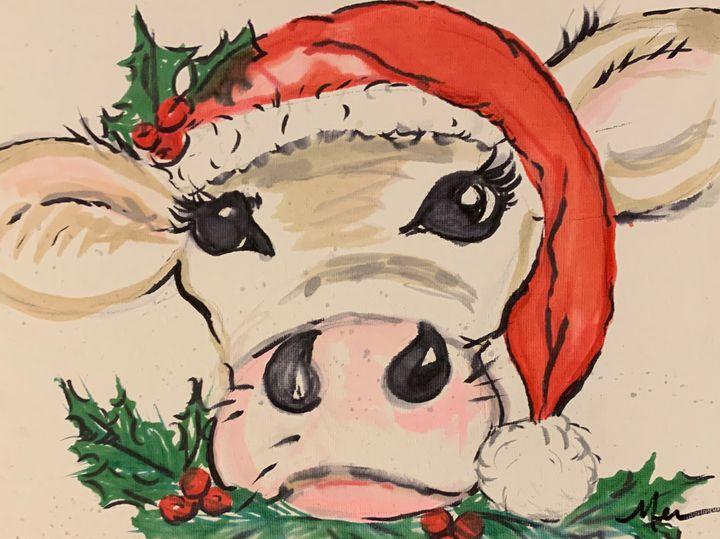 Christmas Cow - MendalineJane