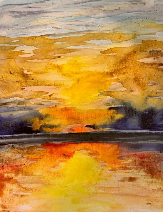 Sunset watercolor - MendalineJane