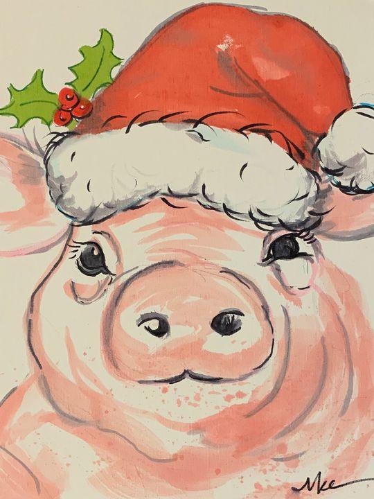Christmas Pig - MendalineJane