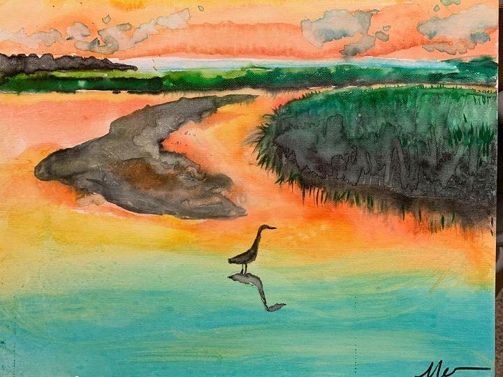 Jamie's Creek watercolor - MendalineJane