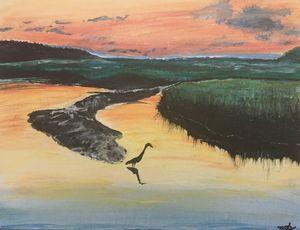 Jaimie's Sunset acrylic