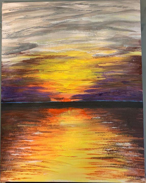 Sunset acrylic - MendalineJane