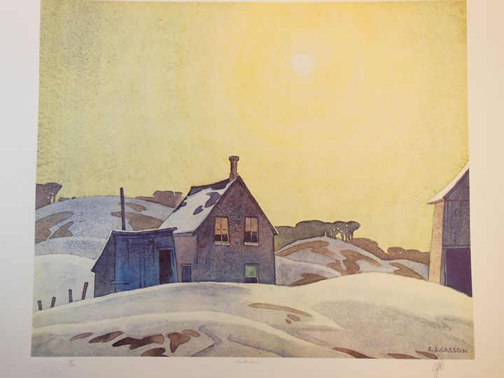 A. J. Casson - Winter Sun - A. J. Casson - Limited Edition