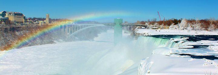 Rainbow over American Falls - Jessica Roberto