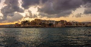 Chania Port Sunrise Panorama