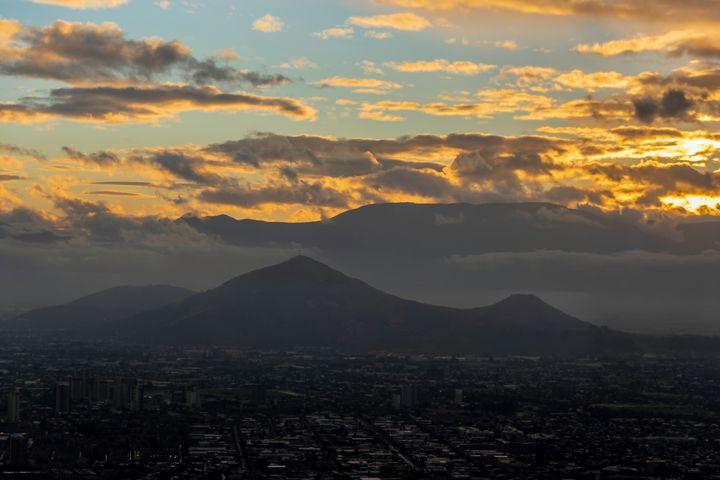 Santiago Sunset - Richmanphotoart.com