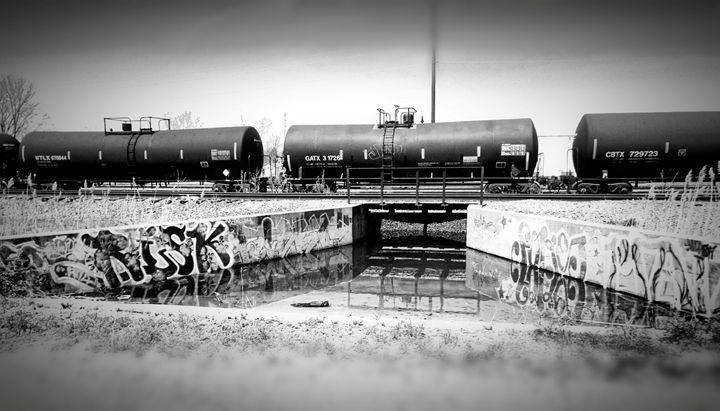 B&W Rail Tanker - Shayne's Photography