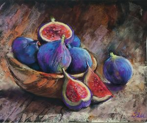 Juicy summer figs - Julia Lu Gallery