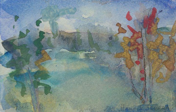 Autumn in Desert - Abstract paintings