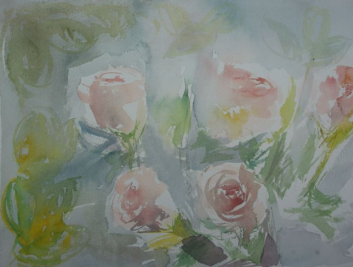 Roses, Roses, Roses - Abstract paintings