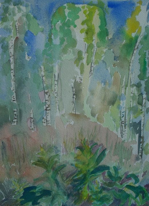 The birches - Abstract paintings