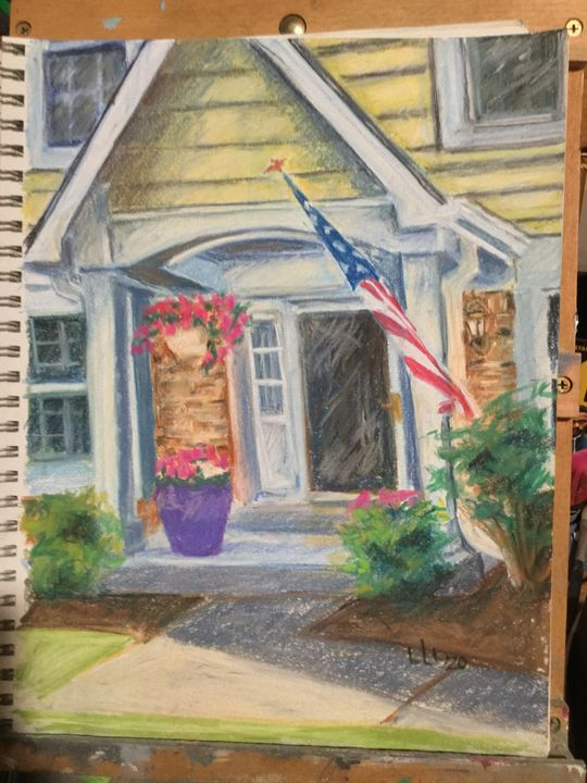 Original pastel drawing - Linda Lee Layton
