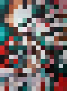Red & Green, Cubist - Tobias
