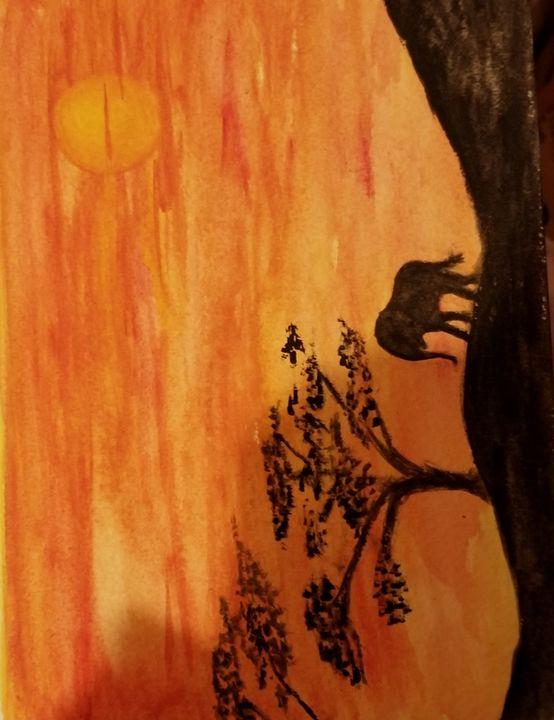 African Sunset - ArtmyHart