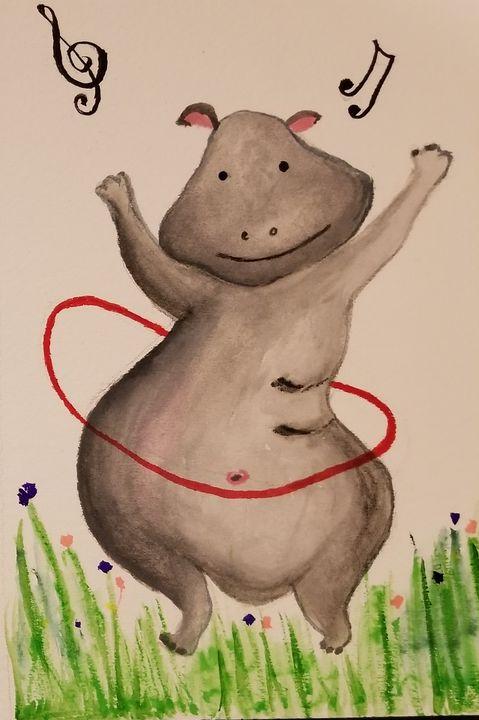 Happy Hippo - ArtmyHart