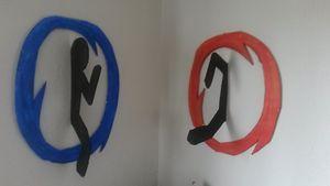 Portal 3d wall art
