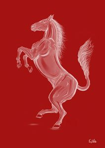 Ink Horse In Red