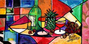 Still Life Fruit & Wine #303