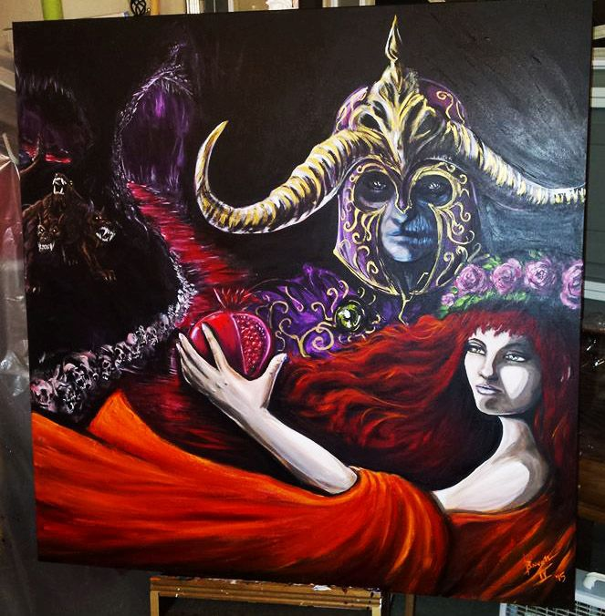 The Fall of Persephone - My Painting Work for Sale
