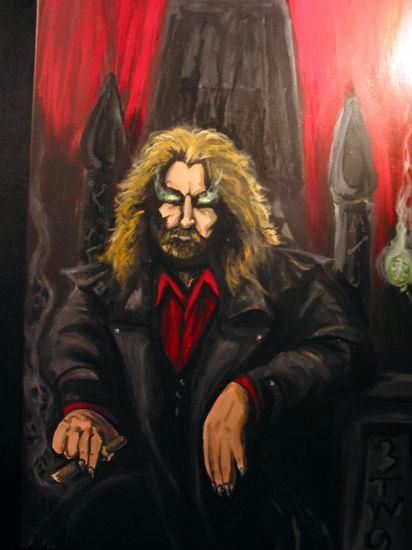 Luc on his Thrown in Hell - My Painting Work for Sale